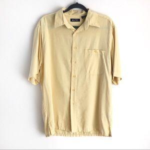 PURITAN Men's yellow short sleeves buttons shirt